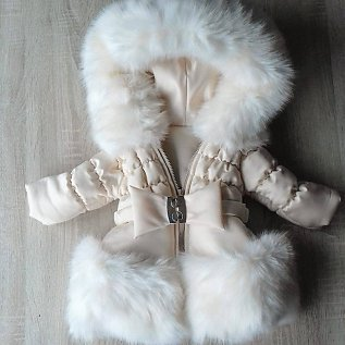 Ladies wintercoat with fur collar