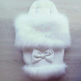 stroller sleeping bag with luxury fake fur