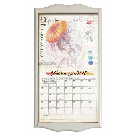 Kalenderlijst classic wit
