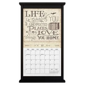 Kalenderlijst recht zwart