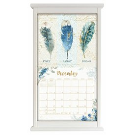 Kalenderlijst recht wit