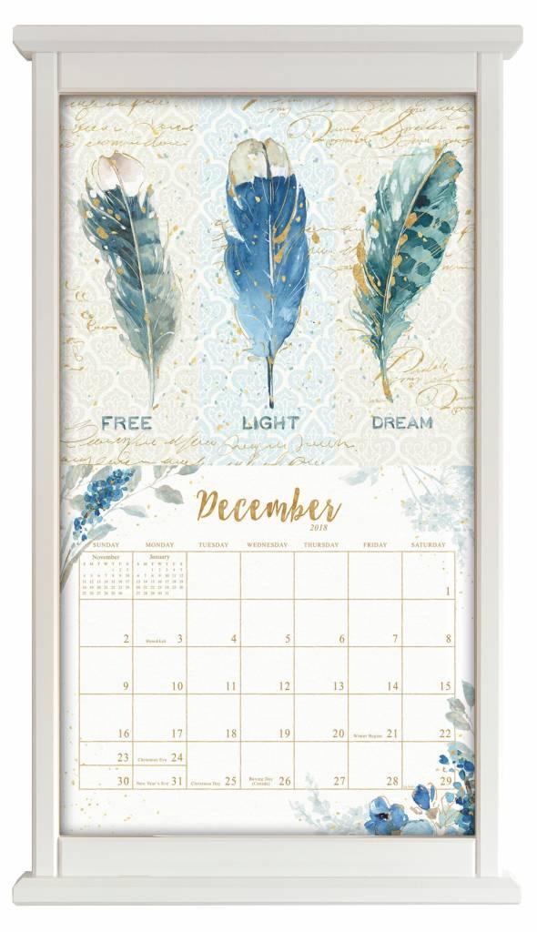 Buchenholz Kalenderrahmen WEIß | The Lang Store