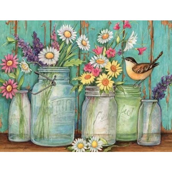 LANG FLOWER JARS Doos Note Cards