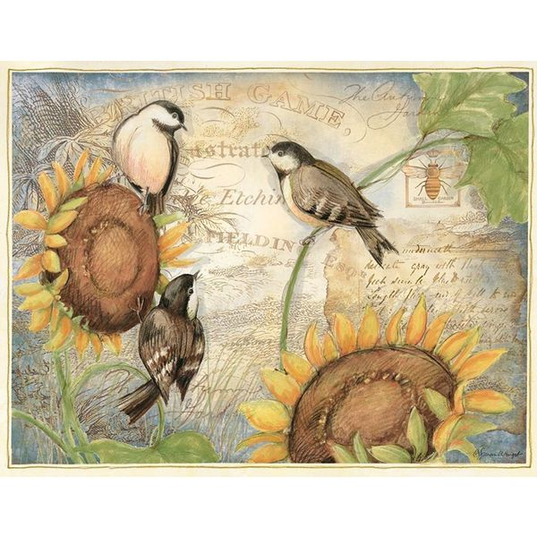 LANG SUNFLOWER BIRDS Box Note Cards