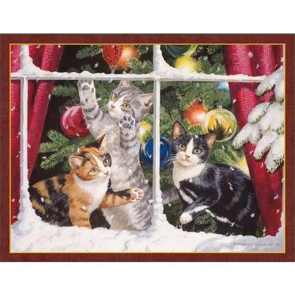 LANG KITTEN CHRISTMAS   Assorted Boxed Christmas Cards