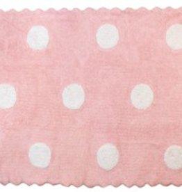 Kinderteppich Punkte rosa