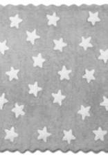 Kinderteppich grau mit weißen Sternen
