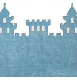 Kinderteppich Schloss blau