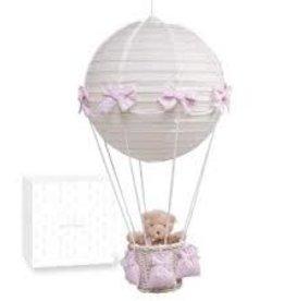 Pasito a Pasito Ballonlampe rosa