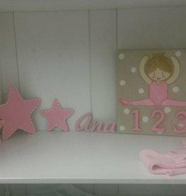 Batle Nicolau Kinderzimmerbild Tänzerin rosa/beige