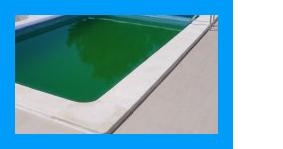 Groen zwembadwater schoonmaken