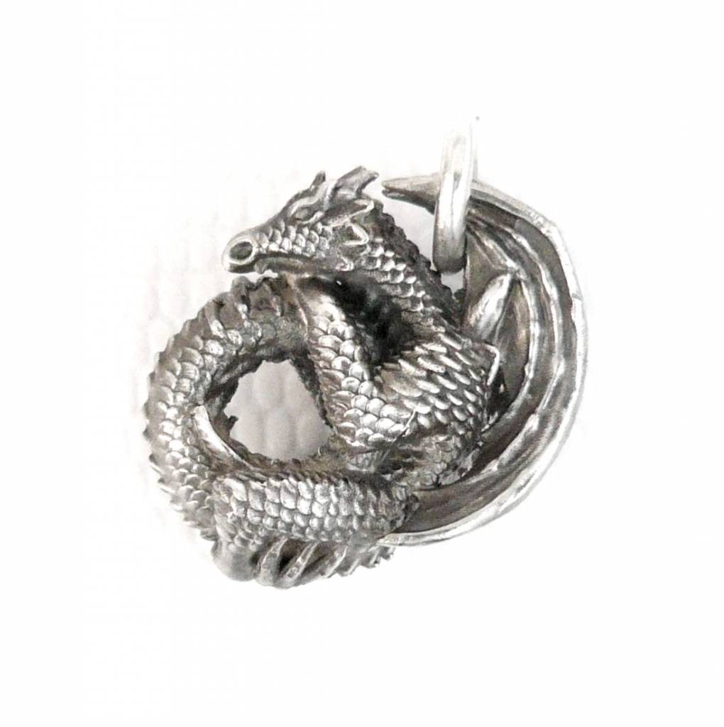 Faerybeads coiling dragon pendant faerybeads for Coiling dragon
