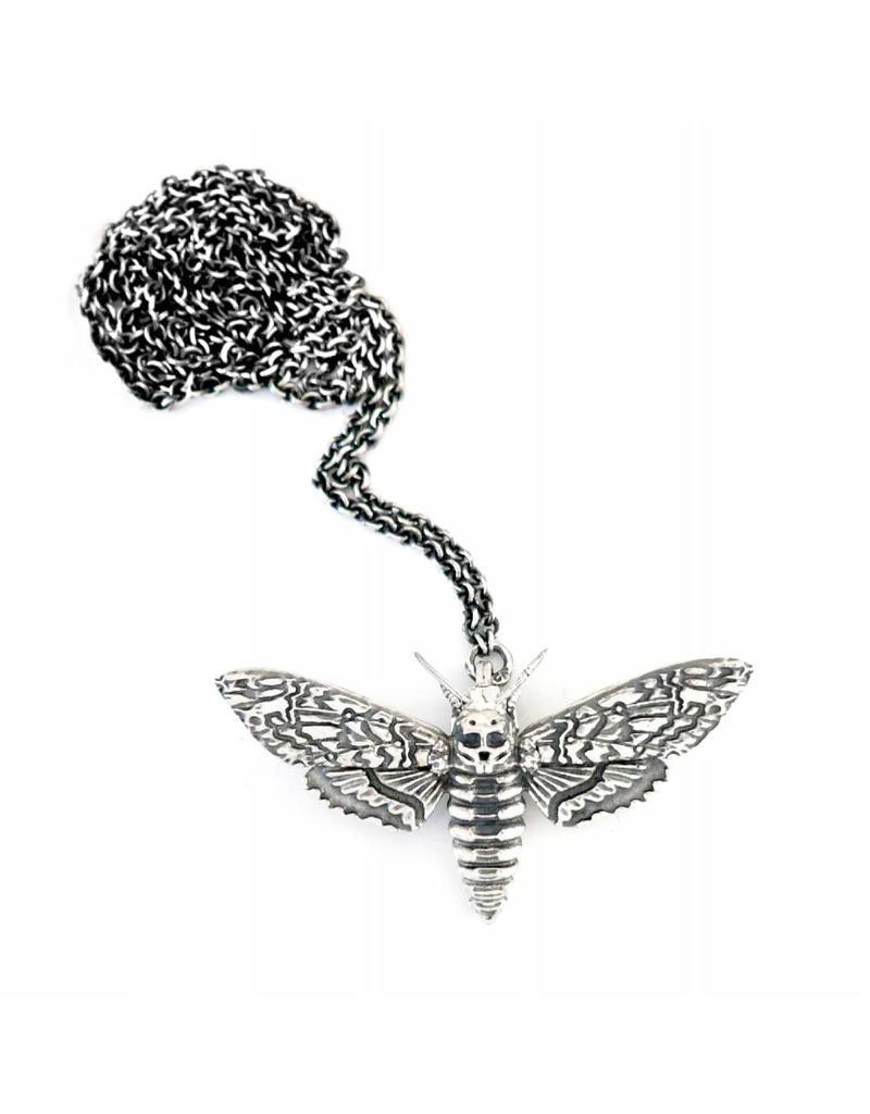 Faerybeads Doodshoofd Vlinder Halsketting