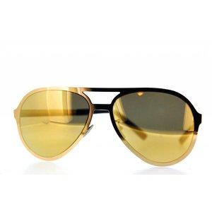 Atelier Vingt - Deux la couleur des lunettes de soleil Atelier Vingt-Deux pilote YP 24KT titane plaqué or