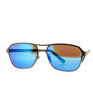 Atelier Vingt - Deux MGR la couleur des lunettes de soleil de titamium Atelir Vingt-Deux Pilot