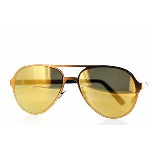 Atelier Vingt - Deux 24KT couleur plaqué or Titanium de lunettes de soleil Atelier Ving-Deux Pilot