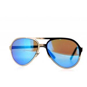 Atelier Vingt - Deux des lunettes de soleil Atelier Vingt-Deux pilote PT couleur titane