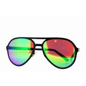 Atelier Vingt - Deux des lunettes de soleil Atelier Vingt-Deux Pilot couleur titane CA