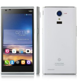 "KINGZONE KINGZONE N3 Wit, 4G LTE, QUAD-CORE 5,0"" HD RETINA SCHERM, met FINGERPRINT 2GB/8GB"