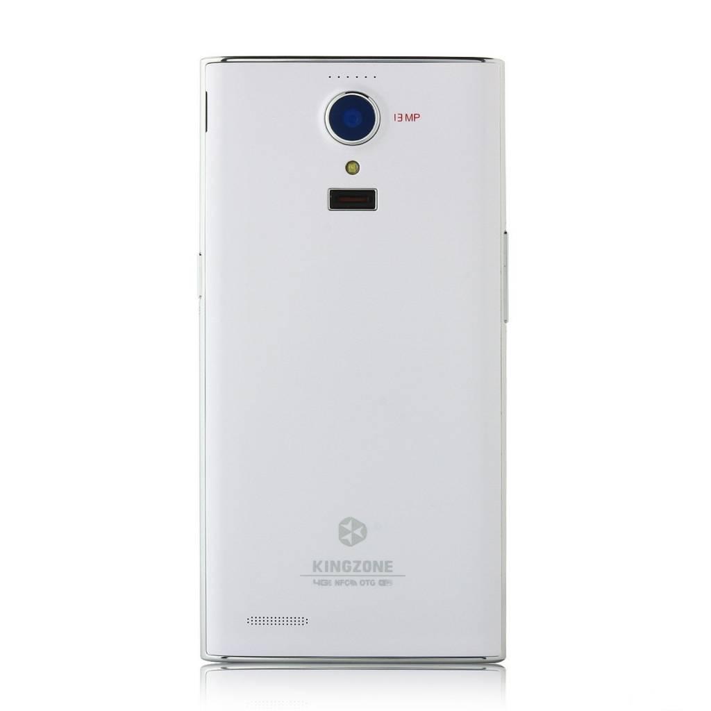 "KINGZONE Witte KINGZONE N3, 4G LTE, QUAD-CORE 5,0"" HD RETINA SCHERM, met FINGERPRINT 2GB/8GB"