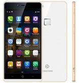 "KINGZONE KINGZONE K2 White, 4G LTE, 64 bit OCTA-CORE, 5,0"" FHD GORILLA SCHERM, FINGERPRINT, 3GB/16GB"