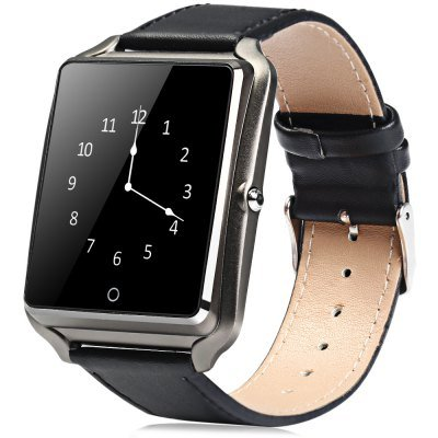 Bluboo BLUBOO Uwatch 1.44'' Smart Watch Bluetooth 4.0 Polsband in Zwart