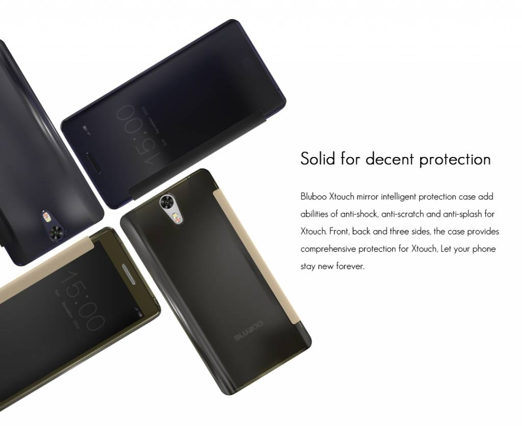 Bluboo Bluboo Xtouch Flipcover + Tempered Glass Screenprotector