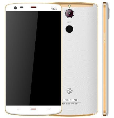 "KINGZONE KINGZONE Z1 Plus Wit, 4G LTE, 64 bit OCTA-CORE, 5,5"" HD RETINA SCHERM,met FINGERPRINT, 2GB/16GB"