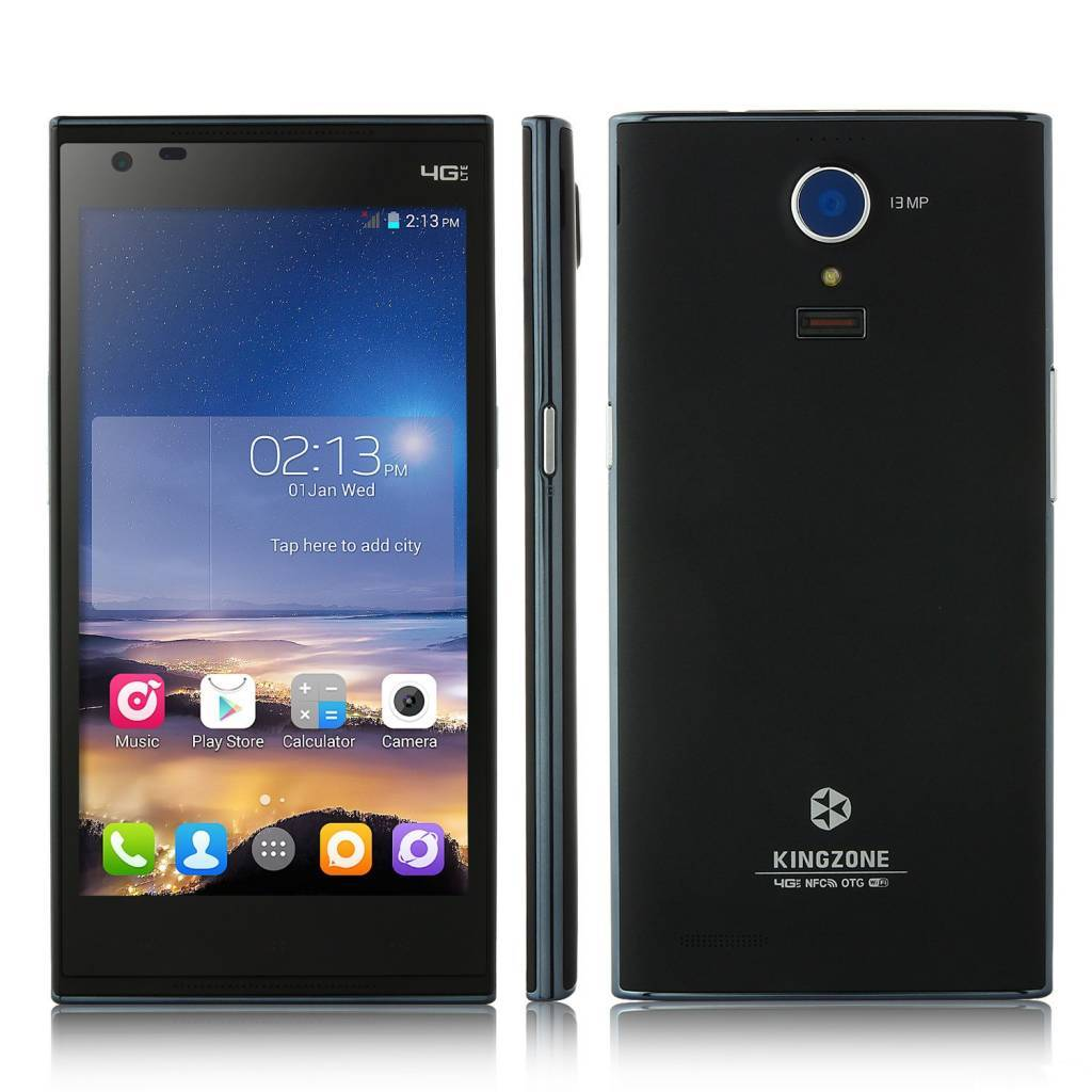 "KINGZONE KINGZONE N3 Plus, 4G LTE, QUAD-CORE 5,0"" HD RETINA SCHERM, met FINGERPRINT 2GB/16GB"