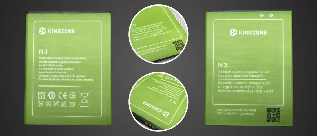 KINGZONE KINGZONE N3 (PLUS) Batterij