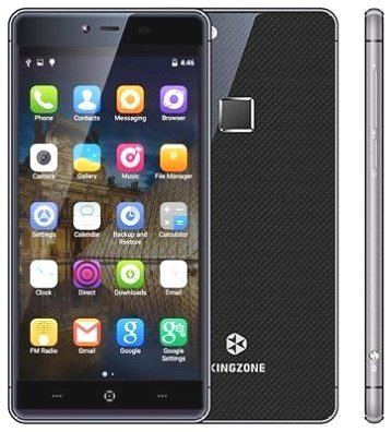 "KINGZONE KINGZONE K2, 4G LTE Zwart, 64 bit OCTA-CORE, 5,0"" FHD GORILLA SCHERM, FINGERPRINT, 3GB/16GB"