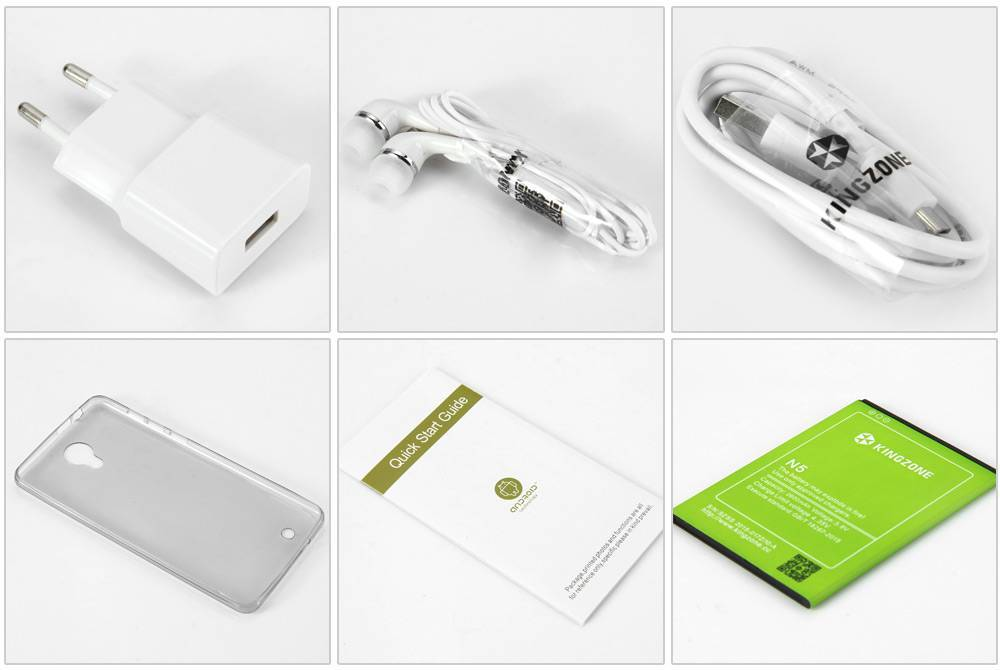 "KINGZONE KINGZONE N5 White, 4G LTE, QUAD-CORE 5,0"" HD, 2.5D Gorilla Arc Screen, 2GB/16GB"