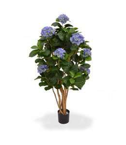 Hortensia op stam 110 cm blauw