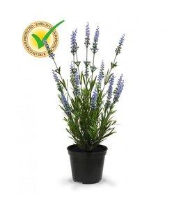 Lavendel Kunstplant 50 cm blauw UV in pot