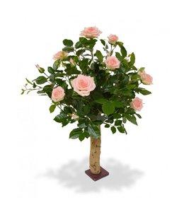 Kunstroos op stam 75 cm roze