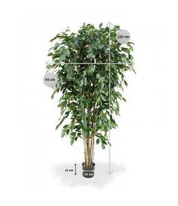 Ficus Exotica Deluxe kunstplant 180 cm groen FR
