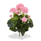 Geranium kunstplant boeket 40 cm roze