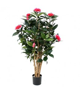 Camelia Japonica Deluxe kunstplant 100 cm rose