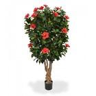 Hibiscus Deluxe XL kunstplant 170 cm rood