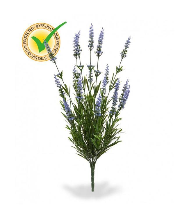 Lavendel Kunstboeket 50 cm UV blauw