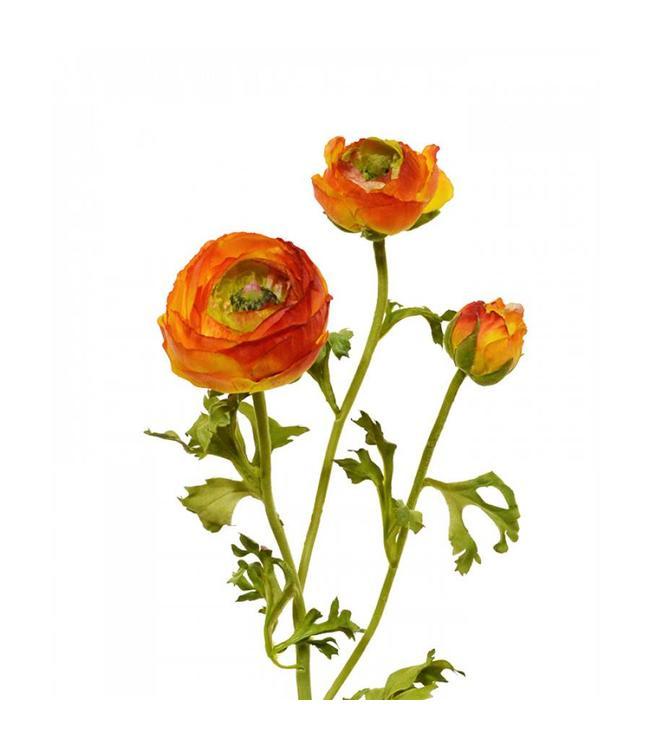 Ranonkel kunsttak deluxe 70 cm oranje