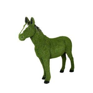 Staand paard bekleed met kunstgras