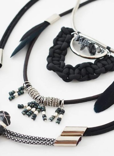 Leather Tribal necklace