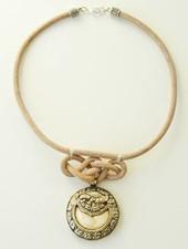 Phoenix leather necklace