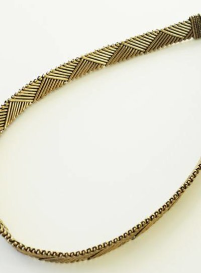 Woven tribal necklace