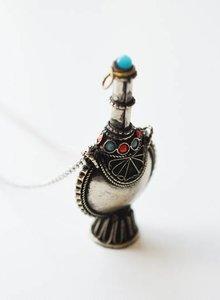 Tribal snuff bottle ketting