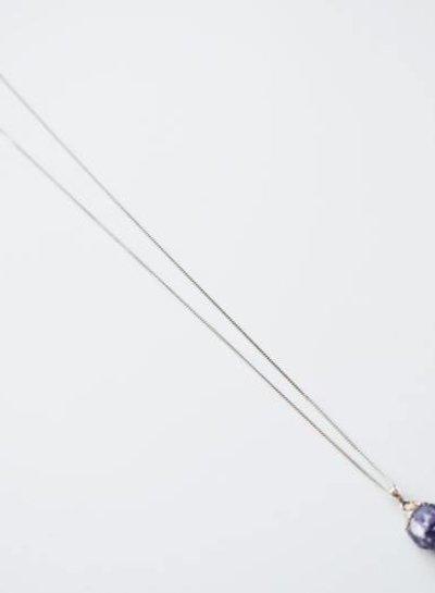 Amethist steen hanger ketting