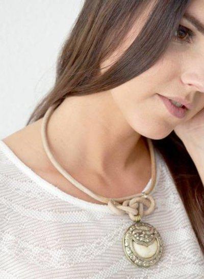 Phoenix leather choker necklace