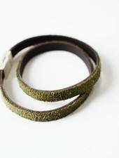 Wikkel armband Khaki