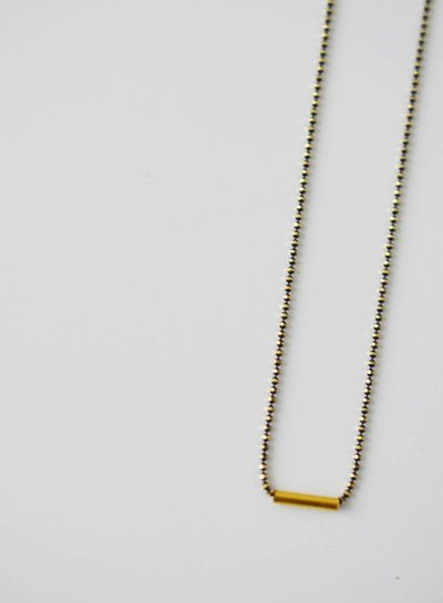 necklace Tube gold